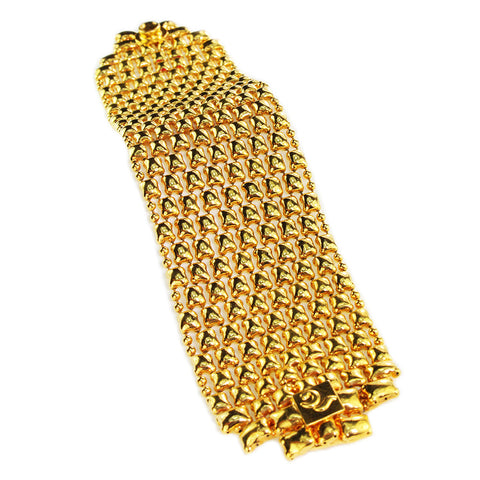 SG Liquid Metal BQ2–G24K Gold 24K Finish Bracelet by Sergio Gutierrez