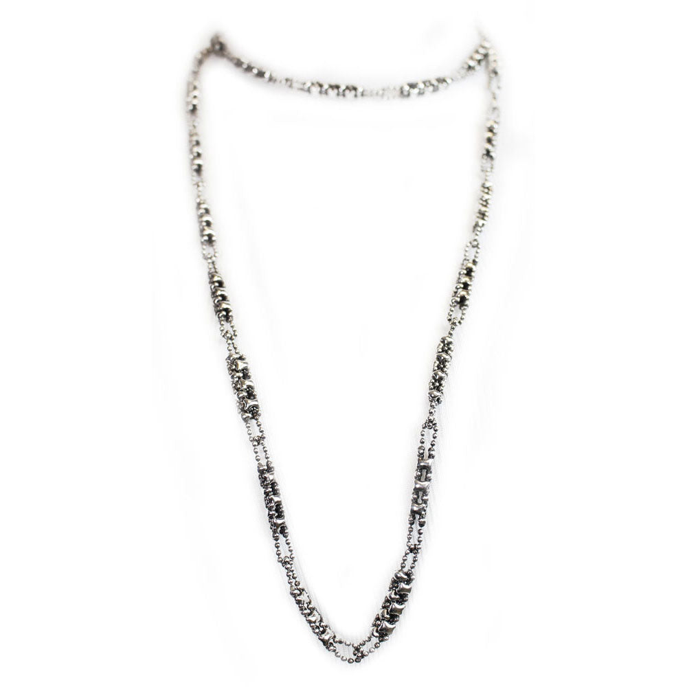 SG Liquid Metal CH1-AS Antique Silver Necklace