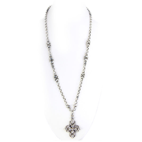 CH3-AS Antique Silver Necklace