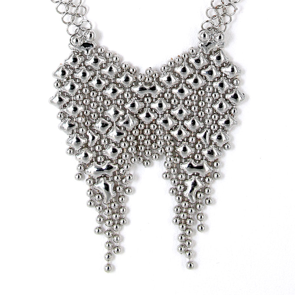 SG Liquid Metal CMNECK3-N Chrome Finish Necklace by Sergio Gutierrez