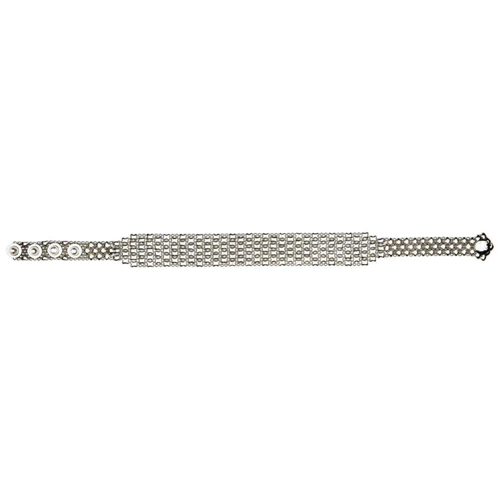 SG Liquid Metal CQ2 - AS Antique Silver Choker by Sergio Gutierrez