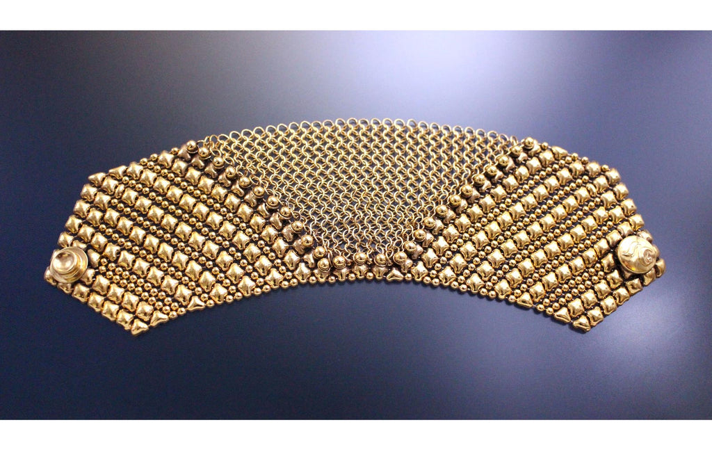 SG Liquid Metal Chainmail by Sergio Gutierrez CMB6 - AG (Antique Gold Bracelet)