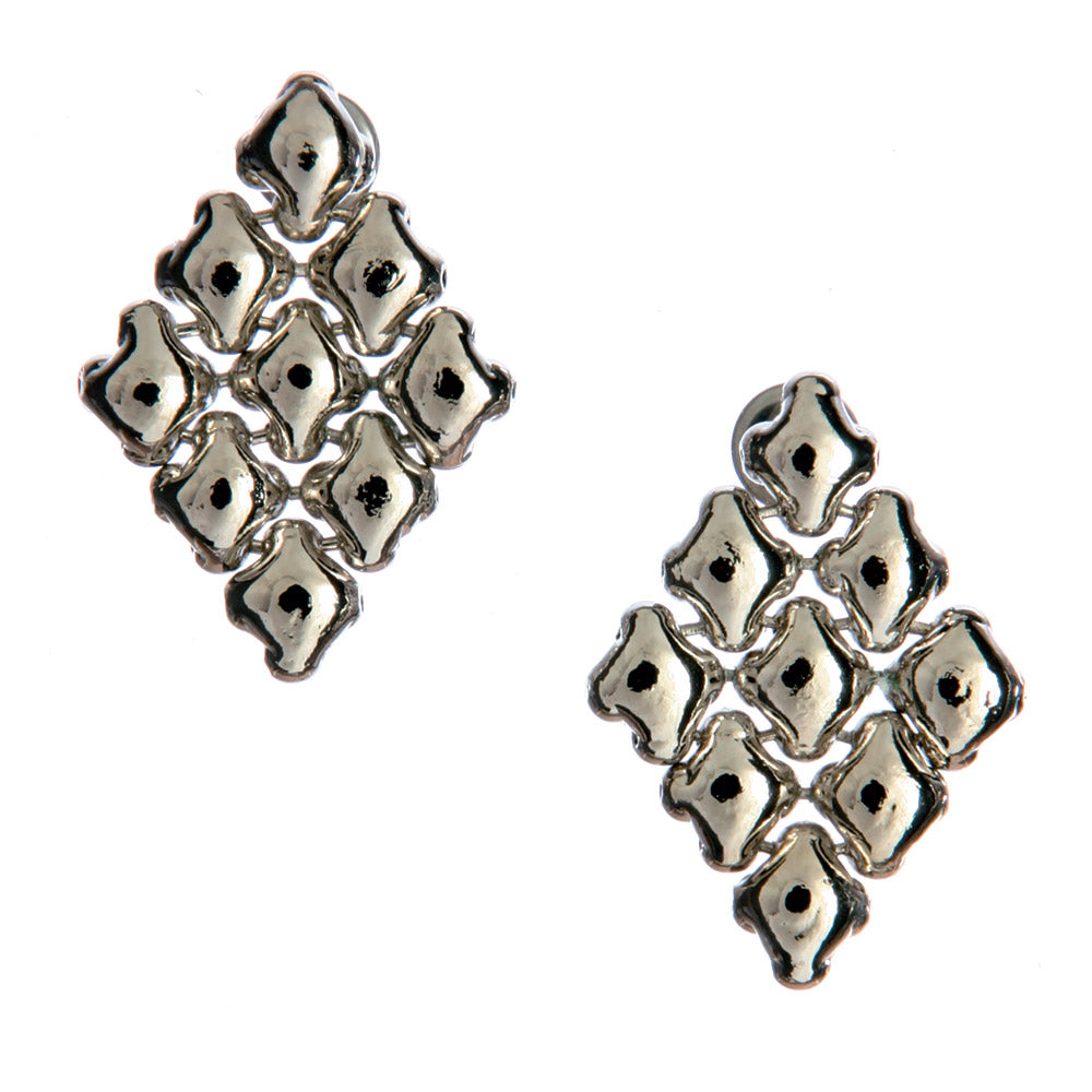SG Liquid Metal E11 - AS Antique Silver Finish Earrings by Sergio Gutierrez