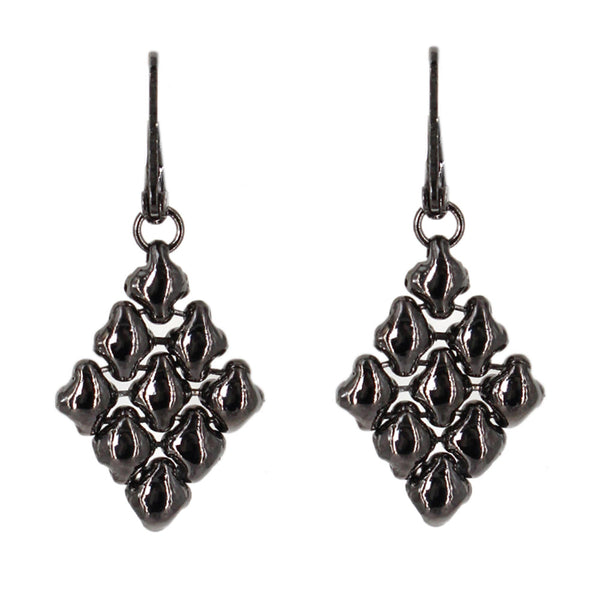 E11-BLK Black Chrome Finish Earrings