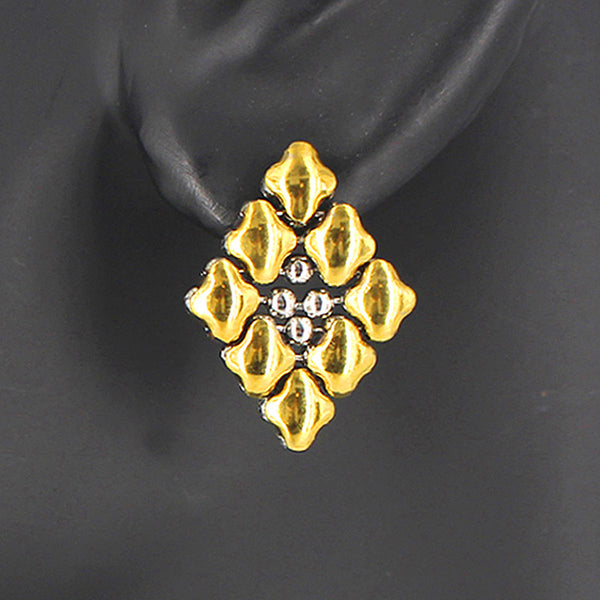 E11 - SS / Gold Titanium (Stainless Steel Earring)