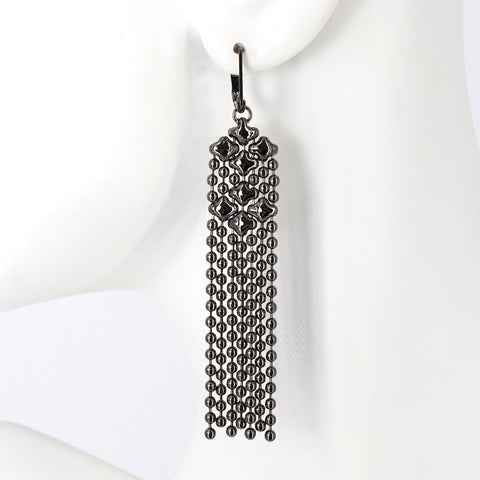 E14-BLK Black Chrome Finish Earrings
