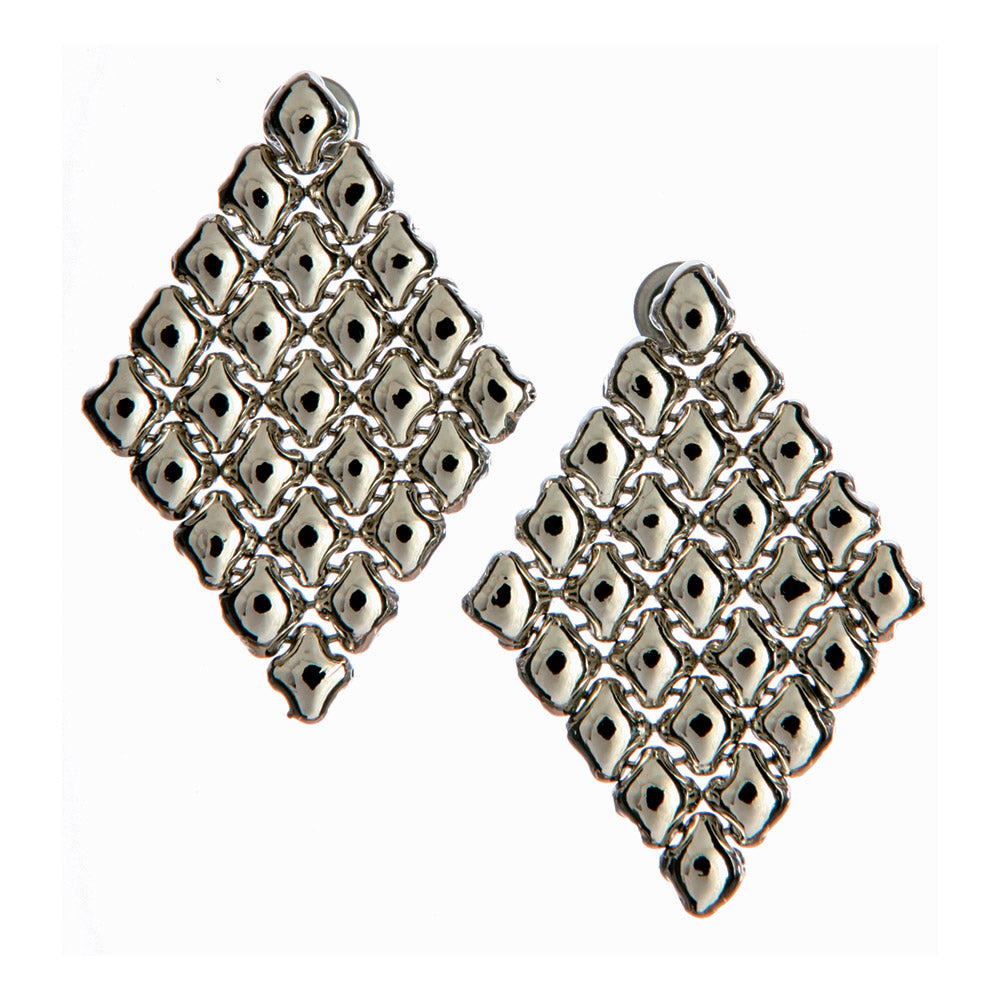 SG Liquid Metal E17 - AS Antique Silver Finish Earrings by Sergio Gutierrez