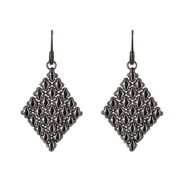 E17-BLK Black Chrome Finish Earrings