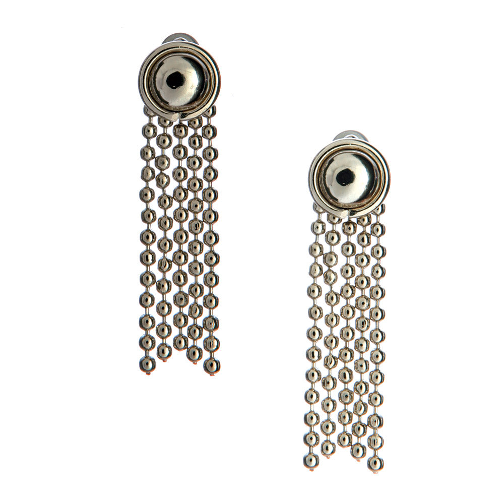SG Liquid Metal E30 - AS Antique Silver Finish Earrings by Sergio Gutierrez