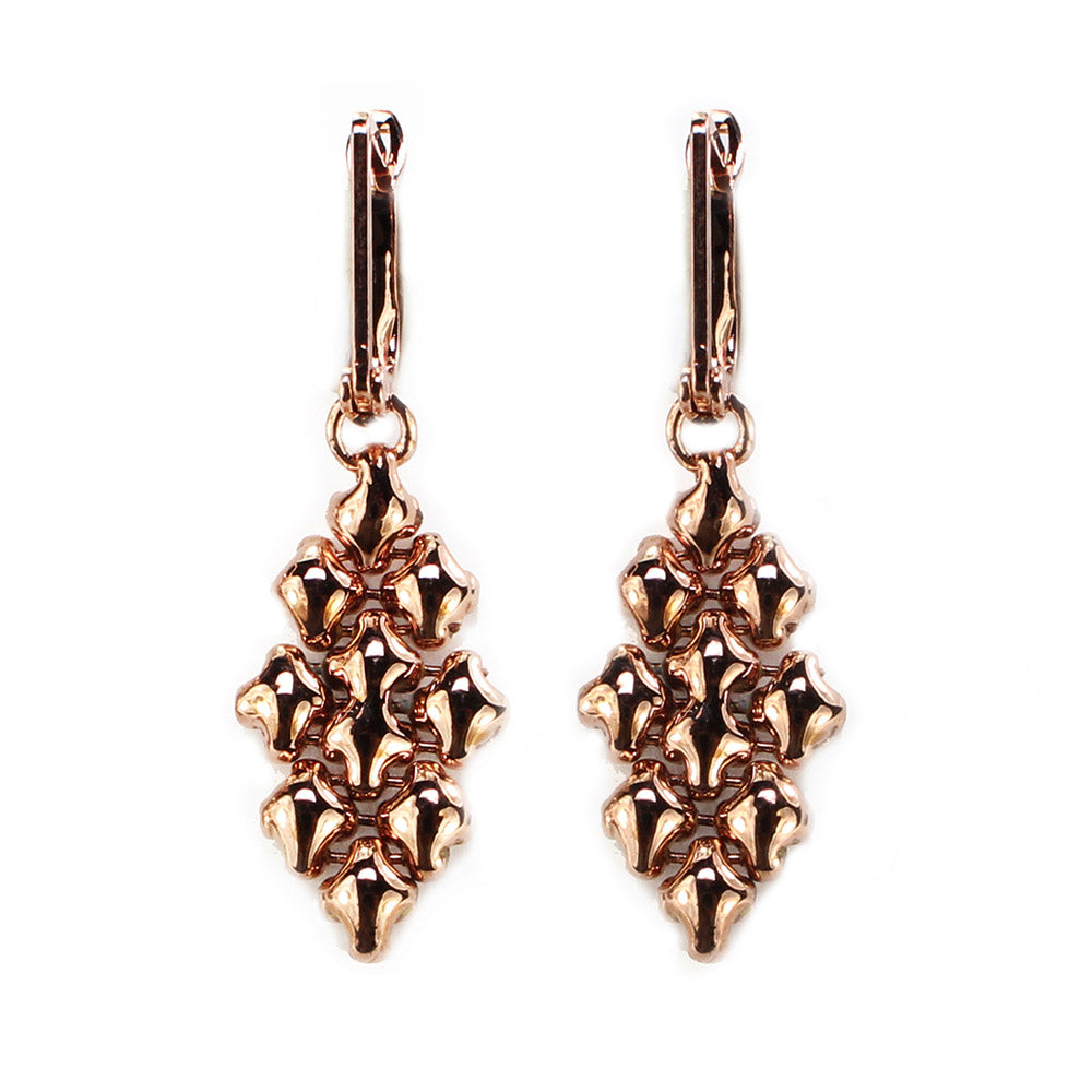 SG Liquid Metal E32-RG Rose Gold Finish EARRINGS by Sergio Gutierrez