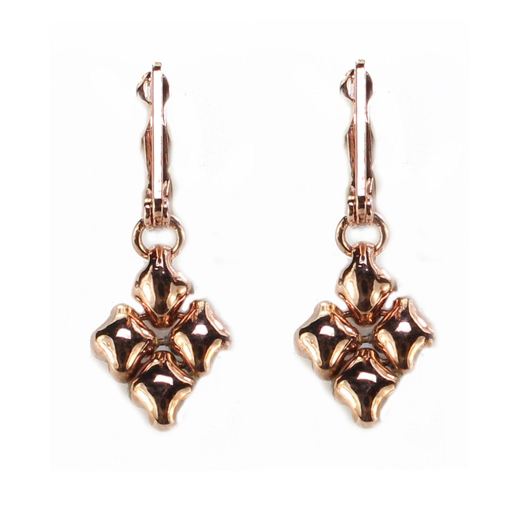 SG Liquid Metal E34-RG Rose Gold Finish EARRINGS by Sergio Gutierrez