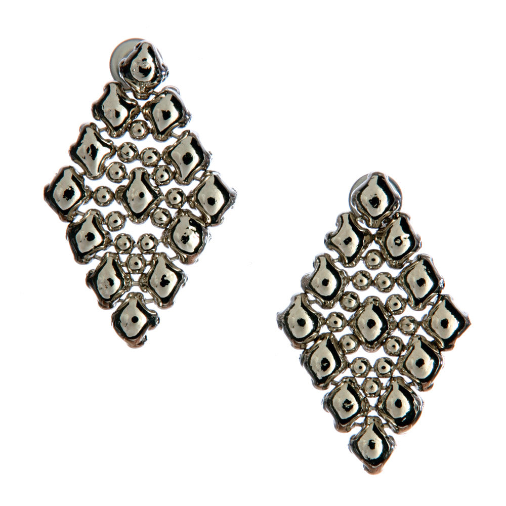 SG Liquid Metal E37 - AS Antique Silver Finish Earrings by Sergio Gutierrez