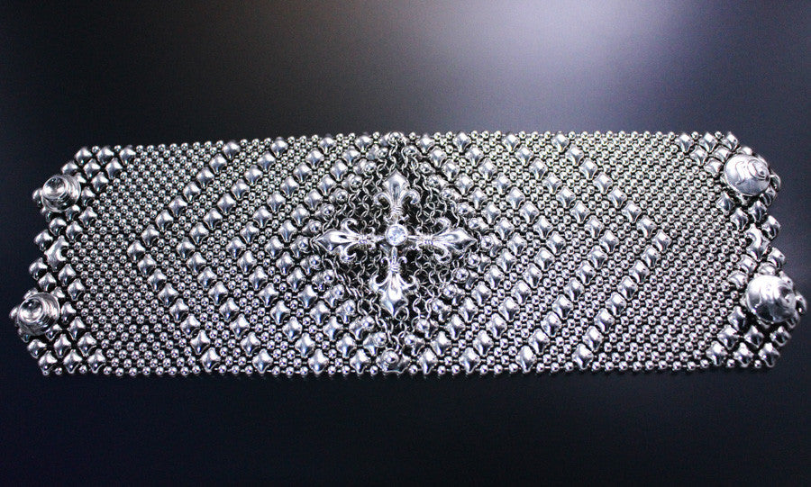 SG Liquid Metal Chainmail CMB7ZCR - AS (antique silver finish) Bracelet by Sergio Gutierrez