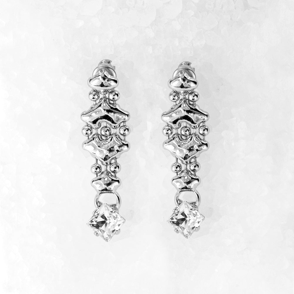 SG Liquid Metal ICE3-N Ice Collection (Chrome Finish) Earrings by Sergio Gutierrez