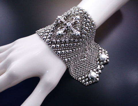 Chainmail CMB7ZCR - AS (antique silver finish) Bracelet