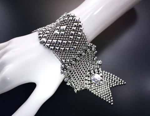 SG Liquid Metal Chainmail CMB9Z - AS (antique silver finish) Bracelet