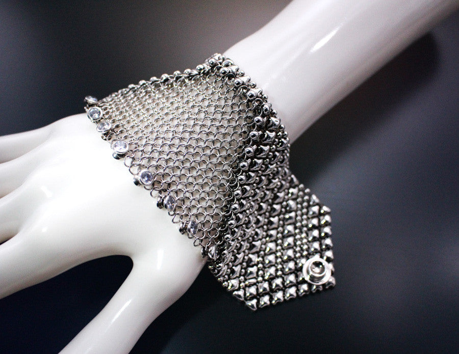 Chainmail CMB6 Z - AS (antique silver finish) Bracelet