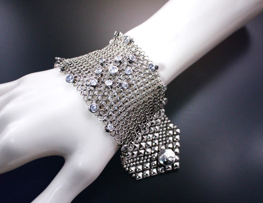 SG Liquid Metal Jewelry by Sergio Gutierrez Chainmail CMB3 Z - AS (antique silver finish) Bracelet