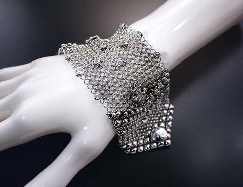 SG Liquid Metal Chainmail CMB4 Z - AS (antique silver finish) Bracelet