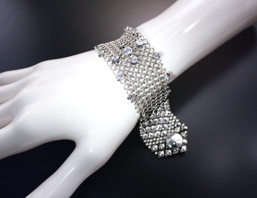 SG Liquid Metal Chainmail by Sergio Gutierrez CMB2 Z - AS (antique silver finish) Bracelet