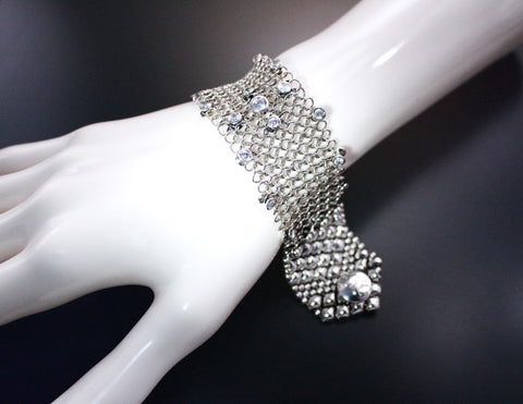 SG Liquid Metal Chainmail CMB2 Z - AS (antique silver finish) Bracelet