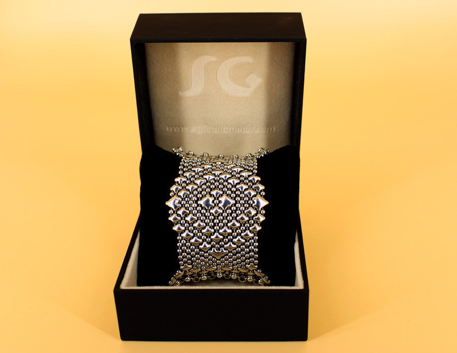 SG Liquid Metal Chainmail CMB9Z - AS (antique silver finish) Bracelet by Sergio Gutierrez