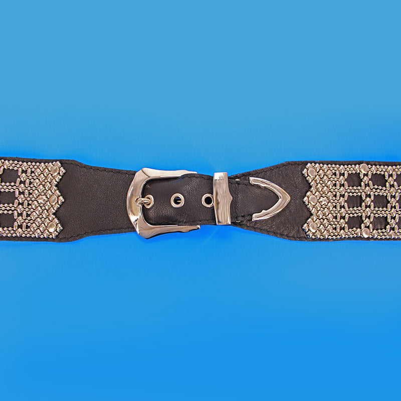 SG Liquid Metal LTBELT4 (Chrome Finish & Leather) Belt by Sergio Gutierrez
