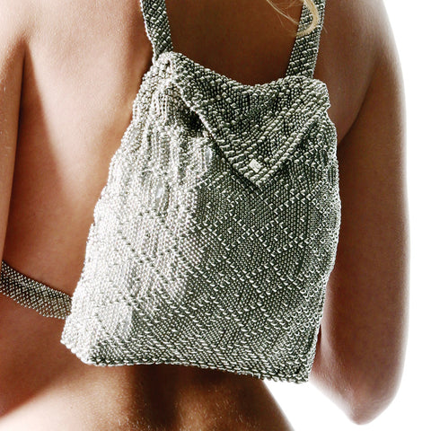 SG Liquid Metal Mesh Backpack - Chrome Finish Bag by Sergio Gutierrez
