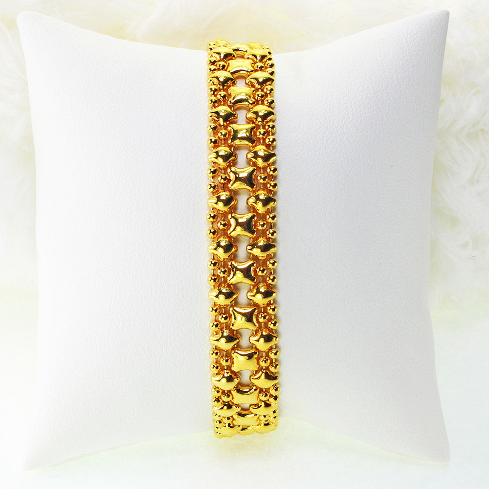 SG Liquid Metal MINI-A-G24K Gold 24K Finish Bracelet by Sergio Gutierrez