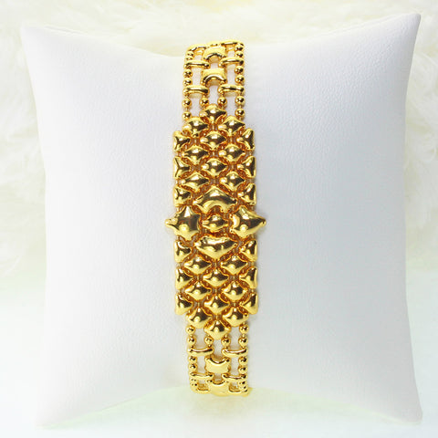 SG Liquid Metal MINI-C-G24K Gold 24K Finish Bracelet by Sergio Gutierrez