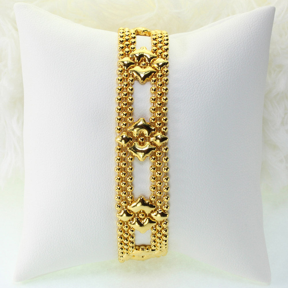 SG Liquid Metal MINI-D-G24K Gold 24K Finish Bracelet by Sergio Gutierrez