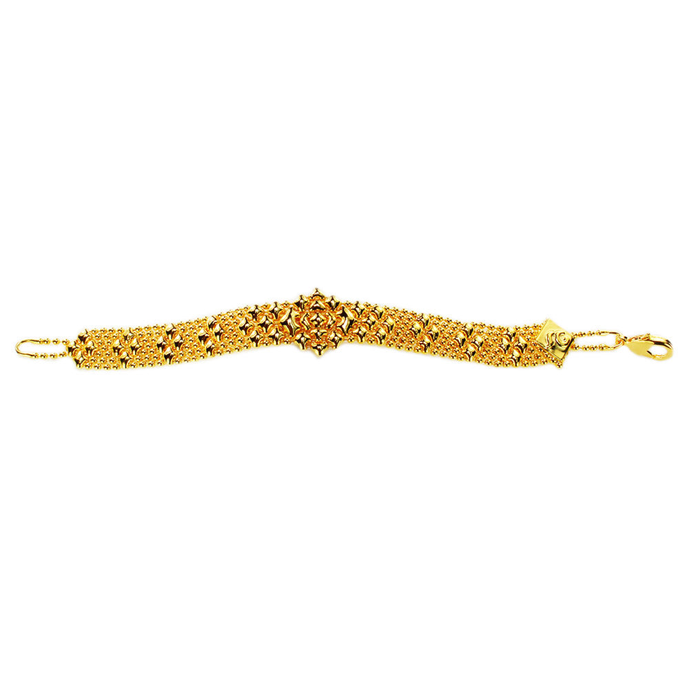 SG Liquid Metal MINI-E-G24K Gold 24K Finish Bracelet by Sergio Gutierrez