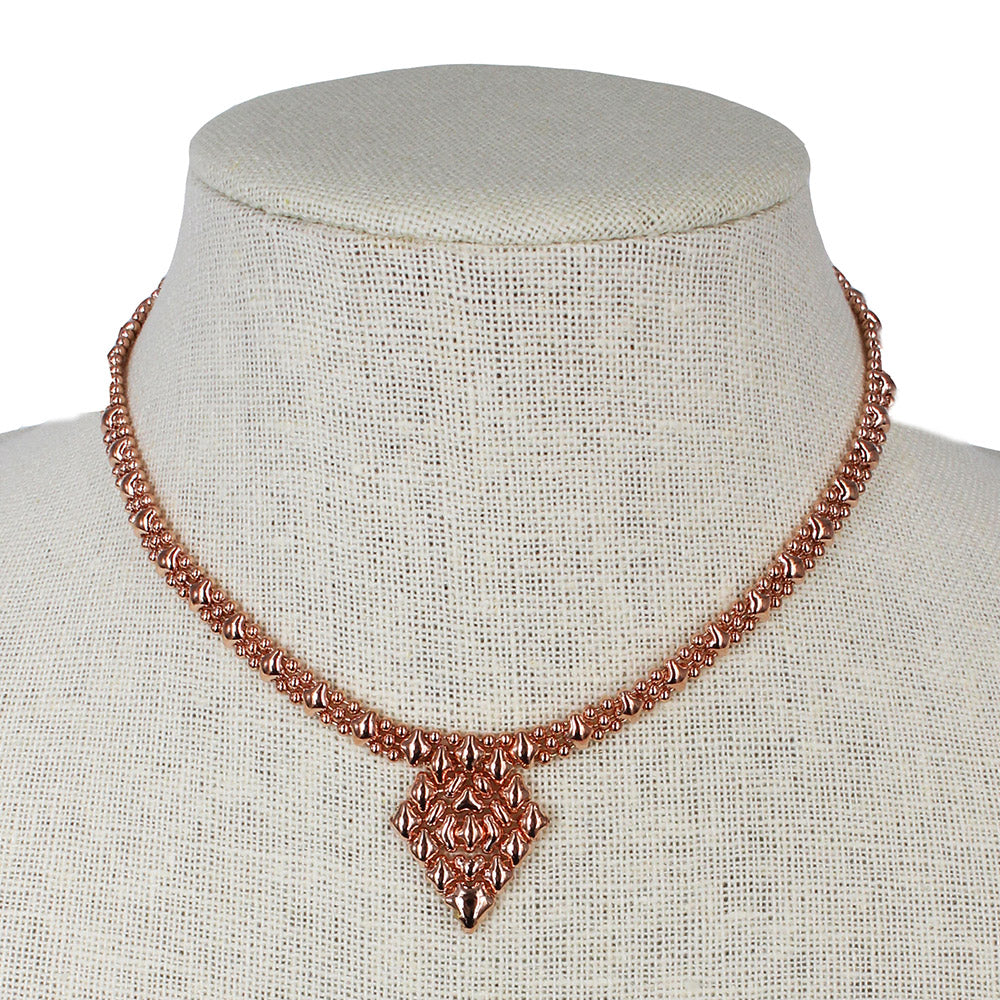SG Liquid Metal MINI-G-RG Rose Gold Finish NECKLACE by Sergio Gutierrez