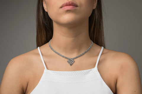 SG Liquid Metal MINI G - Chrome Finish Necklace by Sergio Gutierrez