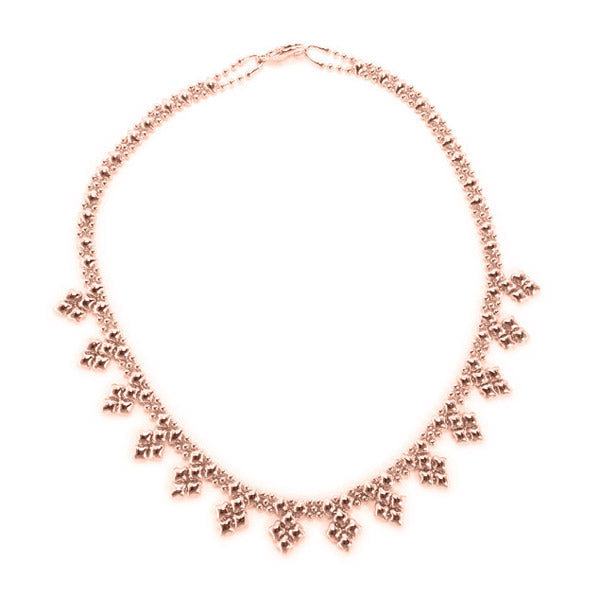 SG Liquid Metal MINI-J-RG Rose Gold Finish NECKLACE by Sergio Gutierrez