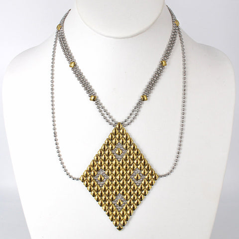 Necklace1 - SS / Gold Titanium (Stainless Steel Necklace)