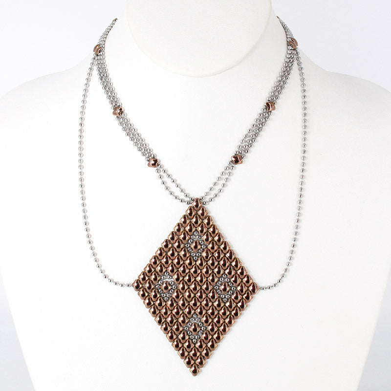 SG Liquid Metal Necklace1 - SS / Rose Titanium (Stainless Steel Necklace)