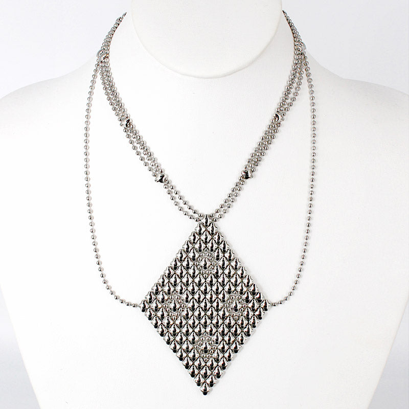 SG Liquid Metal Necklace1 - SS (Stainless Steel Necklace) by Sergio Gutierrez