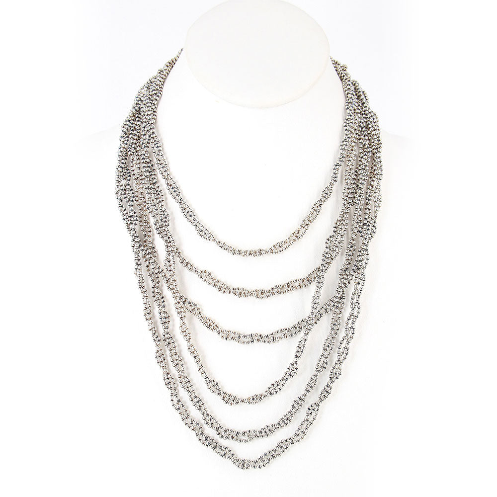 SG Liquid Metal N20-AS Antique Silver Necklace by Sergio Gutierrez