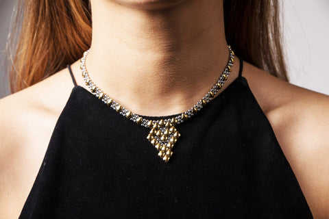 SG Liquid Metal Necklace G - SS / Gold Titanium (Stainless Steel Necklace)