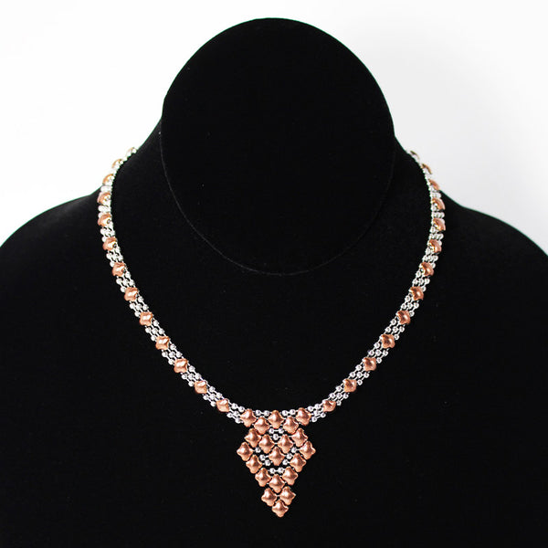 SG Liquid Metal Necklace G - SS / Rose Titanium (Stainless Steel Necklace)