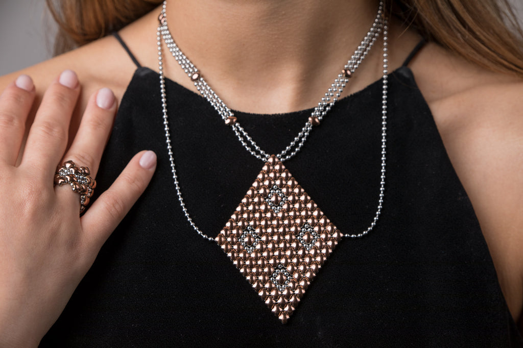 Necklace1 - SS / Rose Titanium (Stainless Steel Necklace)