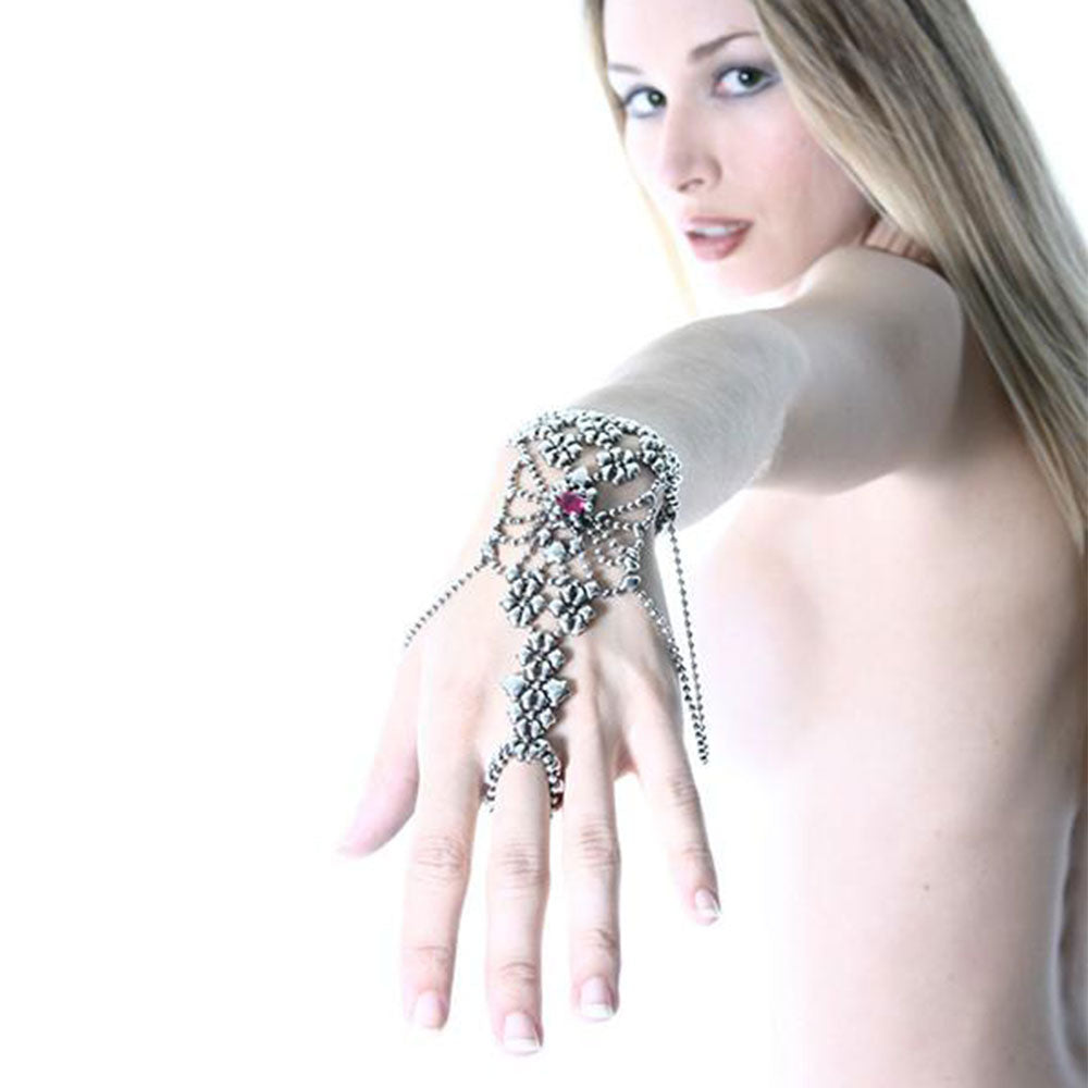 SG Liquid Metal RTB19-AS Antique Silver Bracelet with Swarovsky Crystals by Sergio Gutierrez