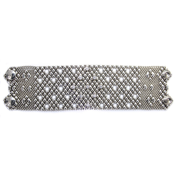 RTB23-ZIR-AS Antique Silver Bracelet