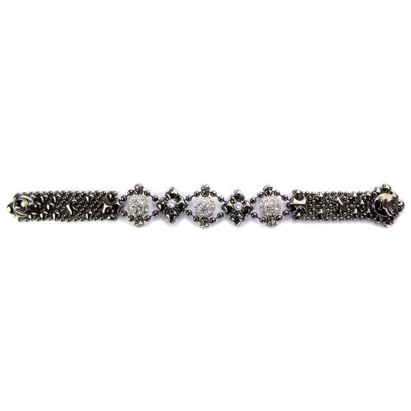 RTB24-ZIR-BLK Black Chrome Bracelet
