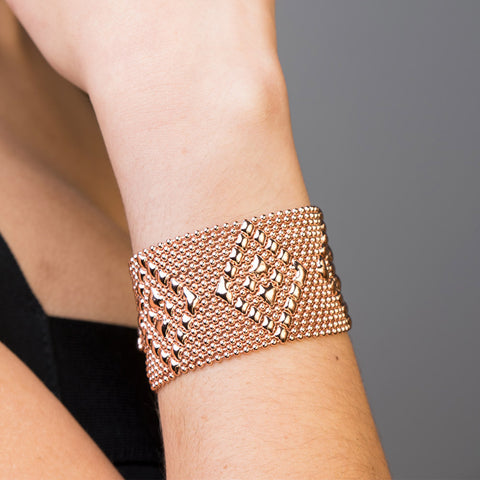SG Liquid Metal TB32 – RG Rose Gold Finish Bracelet by Sergio Gutierrez