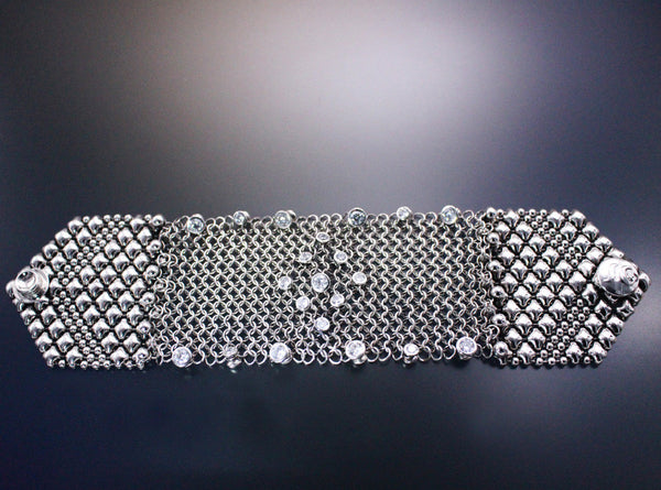 SG Liquid Metal Chainmail CMB3 Z - AS (antique silver finish) Bracelet