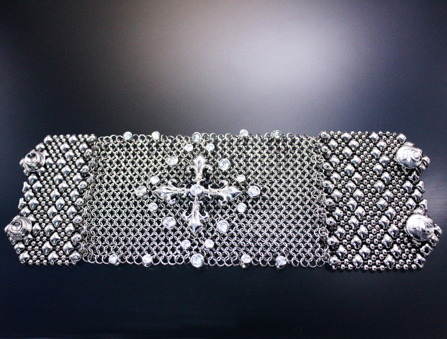 SG Liquid Metal Chainmail CMB8ZCR - AS (antique silver finish) Bracelet by Sergio Gutierrez