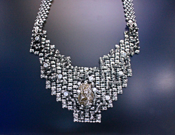 SG Liquid Metal LEN 3919 – AS (antique silver finish) One of a kind Necklace