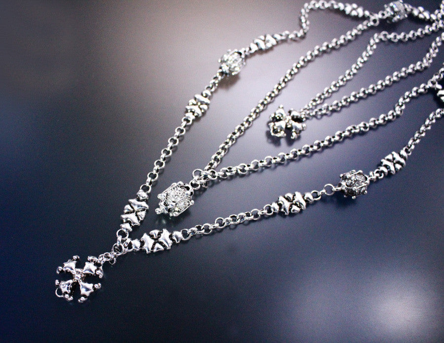LEN 3950 – AS (antique silver finish) Necklace